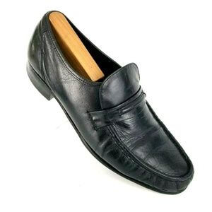 FLORSHEIM BLACK LEATHER LOAFERS DRESS EVENT